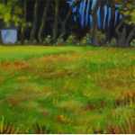 landscape, monthly plein air painting of field on Dixon Avenue, Woodstock, NY