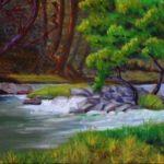 Zena Rapids - 11x14 - oil on canvas (Sawkill River, off Zena Road,  Jun 2014)