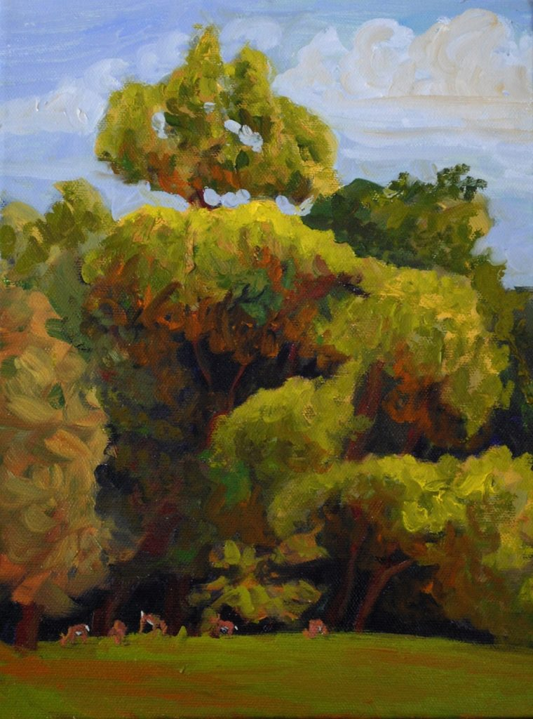 August Afternoon, oil on canvas,12 x 9 inches (August 2014)