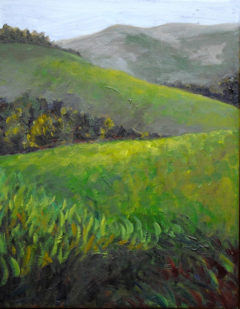 Catskill Zig Zag, oil on canvas, 12x9 inches (June 2018)