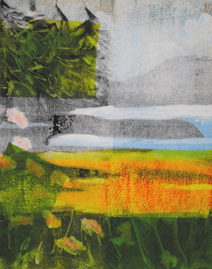 Spring Arrives, monotype, 10x8 inches (April 2019)