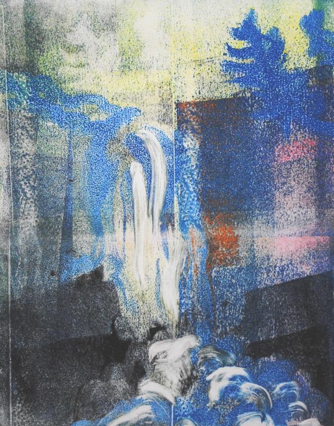 Dream Falls, monotype, 10x8 inches (April 2019)