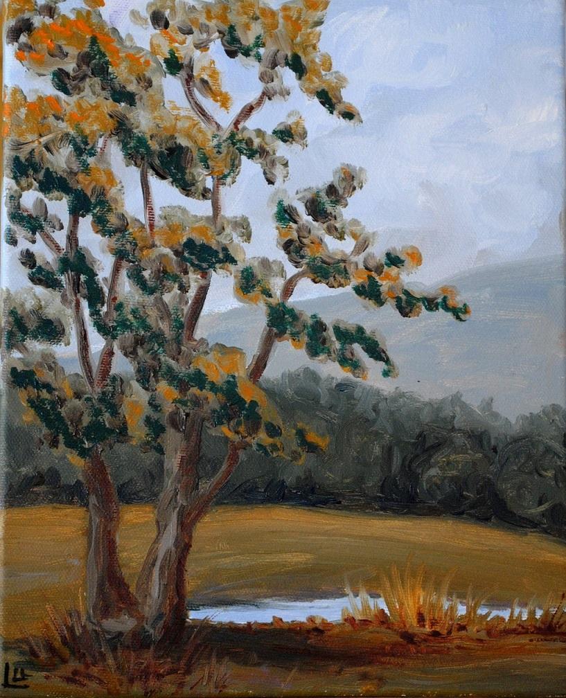 September morning, oil on canvas, 10x8 inches (September 2014)