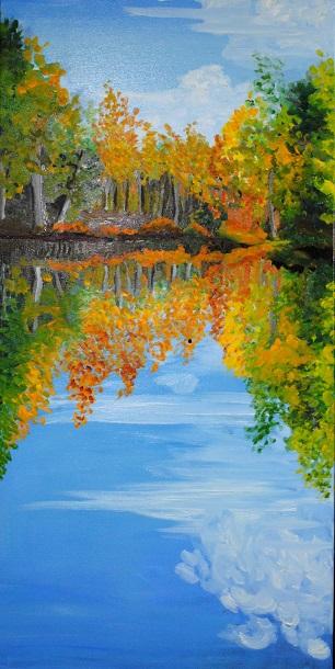Kaleidoscope, oil on canvas, 30x15 in, 2019