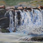 Sawmill Falls at Zena, oil on linen, 16x20 in, 2019